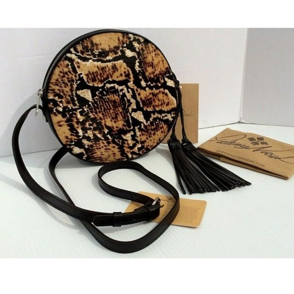 Patricia Nash Scafati Python Leather Crossbody NWT